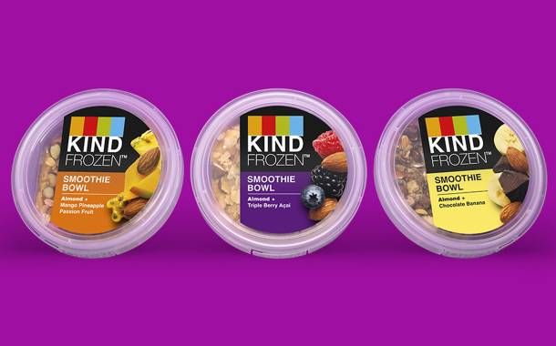 Kind debuts new frozen smoothie bowls in US