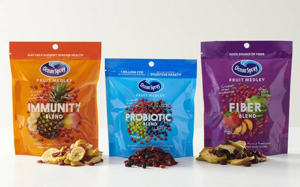 Ocean Spray launches dried fruit blends with key benefits in US