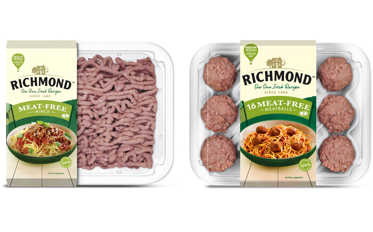 Kerry's Richmond brand launches meat-free meatballs and mince in UK