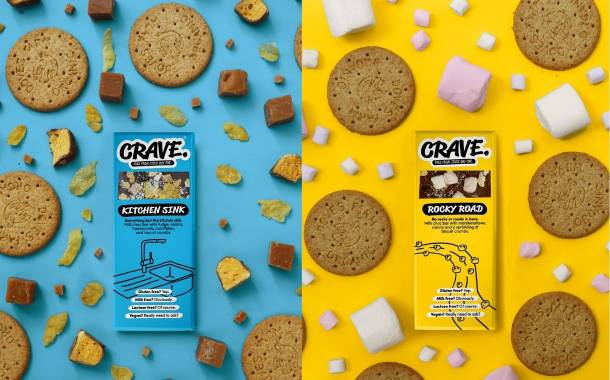 Crave introduces topped vegan chocolate bars