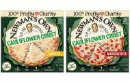 Newman's Own releases thin and crispy cauliflower crust pizzas