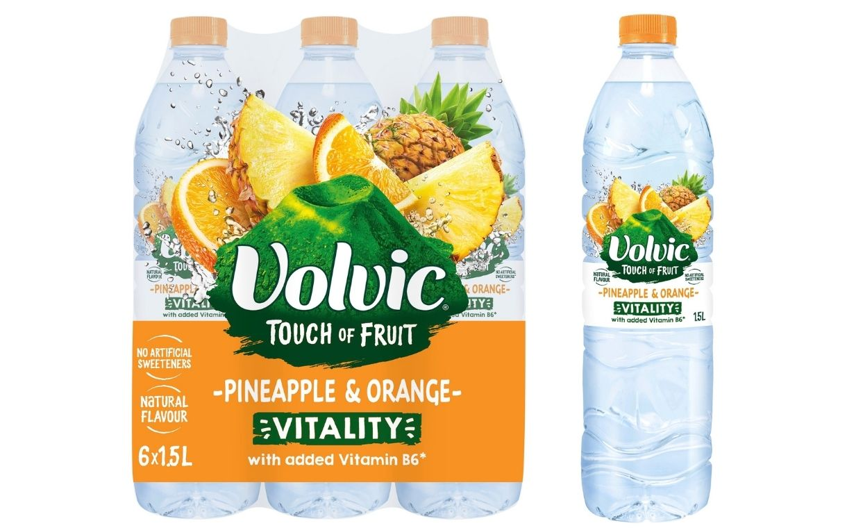 Danone unveils new Volvic Touch of Fruit offering with added vitamin B6