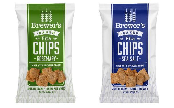 Brewer's Crackers launches pita chips made with upcycled grains