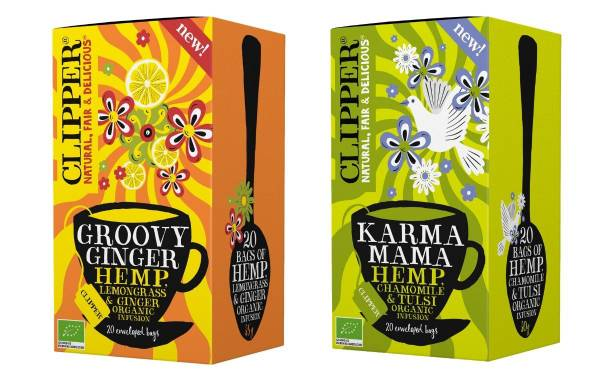 Ecotone's Clipper Teas launches two organic hemp infusions