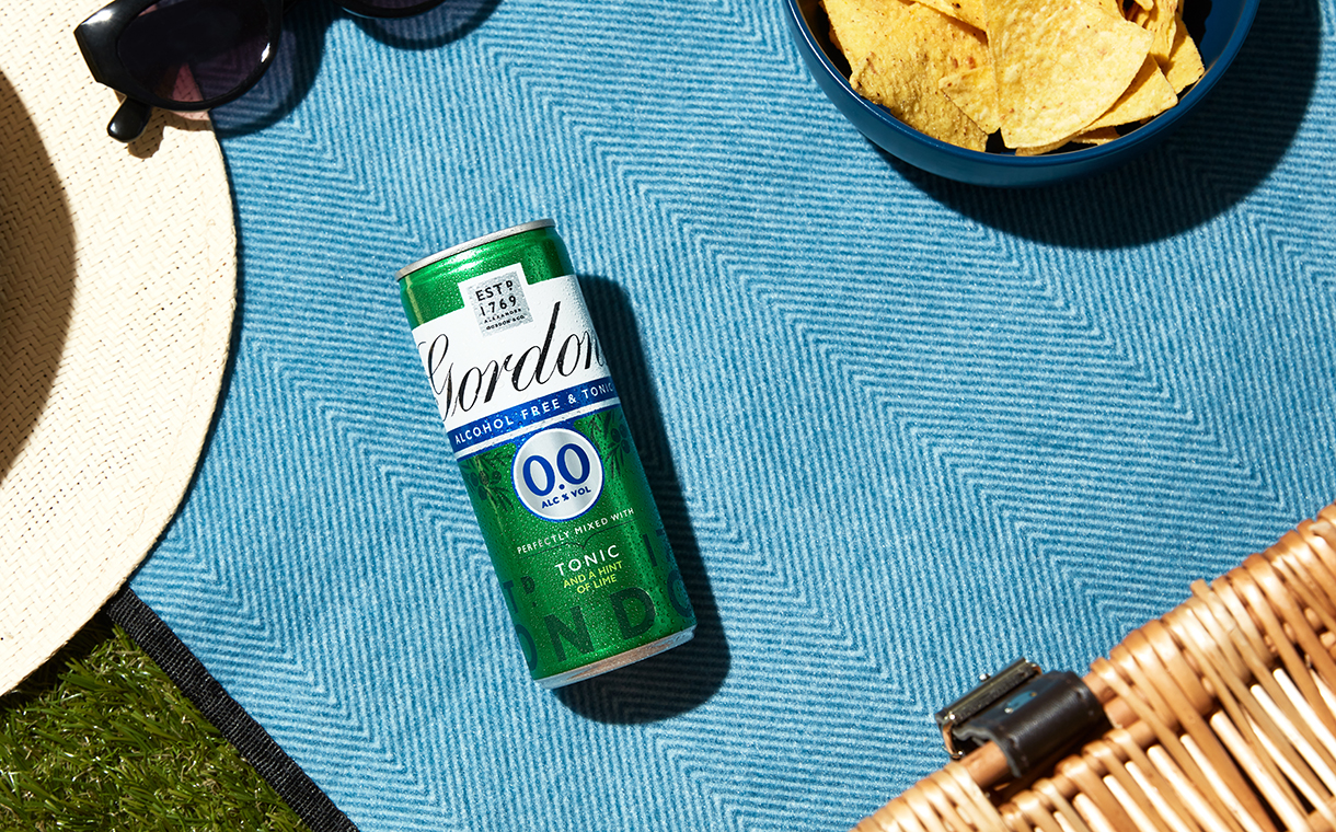 Diageo launches premixed alcohol-free Gordon's and tonic cans
