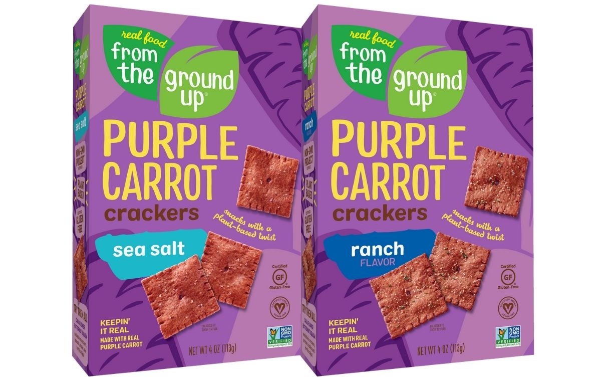 Real Food From The Ground Up introduces Purple Carrot Crackers