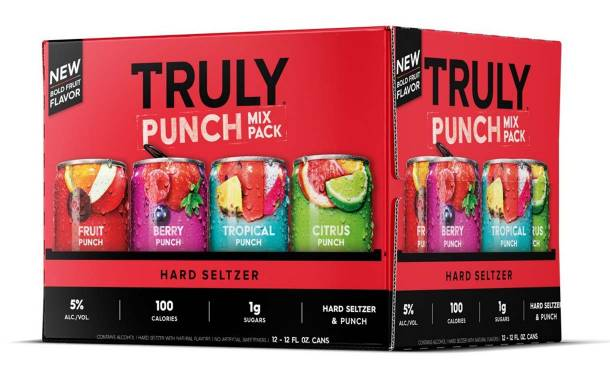 Truly debuts fruit punch hard seltzer variety pack
