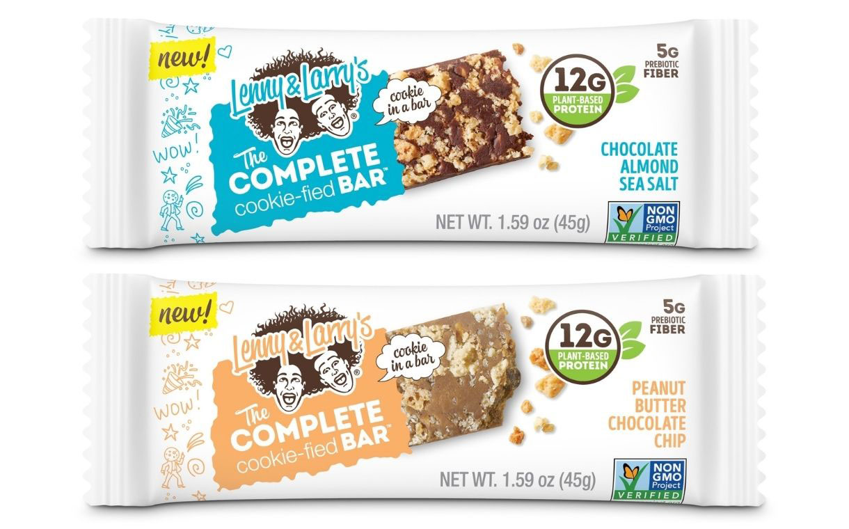 Lenny & Larry's debuts first plant-based protein bar