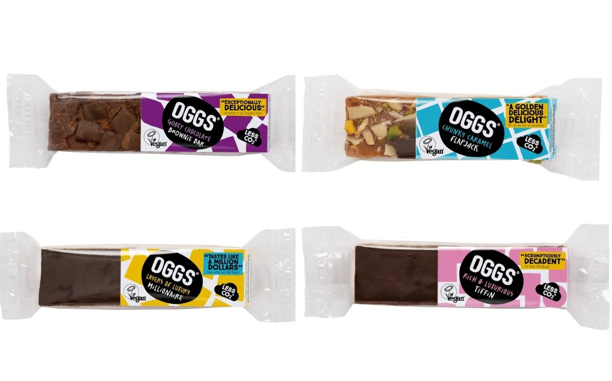 Oggs to introduce four new vegan baked snack bars