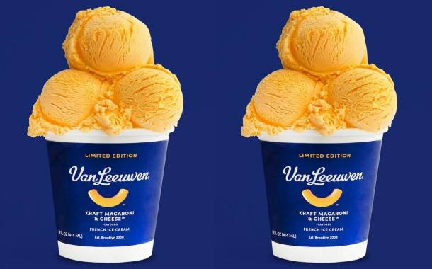 Kraft and Van Leeuwen roll out mac and cheese flavoured ice cream