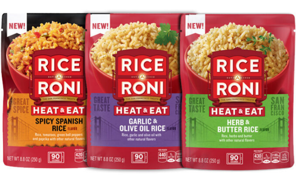 Rice-A-Roni expands offering with microwaveable rice pouches