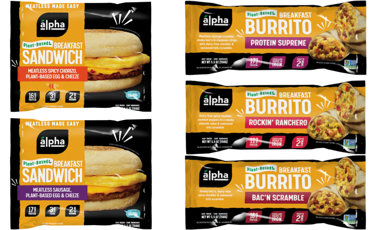 Alpha Foods launches five new plant-based breakfast products