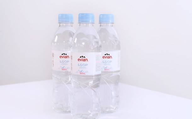 Evian unveils rPET bottles in collaboration with Loop