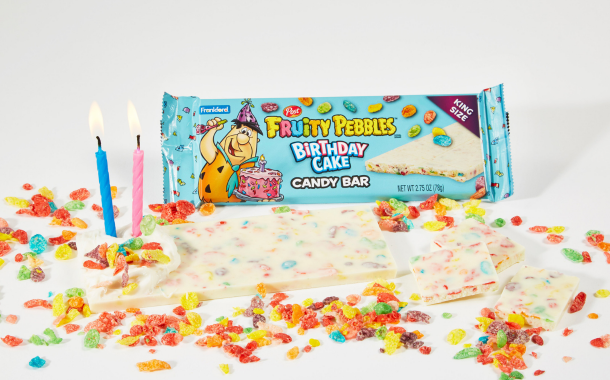 Frankford Candy unveils new Fruity Pebbles Birthday Cake Candy Bar