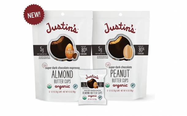 Justin's introduces two Super Dark Chocolate Nut Butter Cups