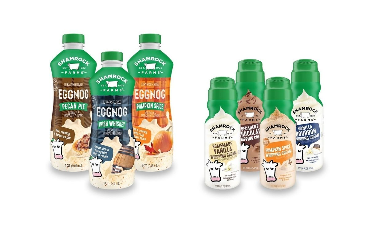 Shamrock Farms releases seasonal eggnog and whipping creams