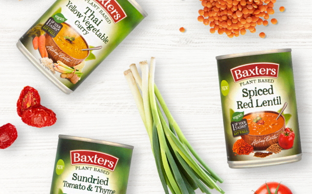 Baxters adds new flavours to tinned plant-based soup range