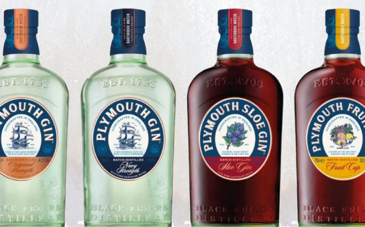 Pernod Ricard's Plymouth Gin brand redesigns bottle to be more sustainable