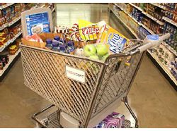 Hi-tech shopping trolley helps find items in store