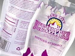 Park City IceWater flexible Pouch packaging